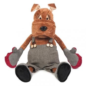 Мягкая игрушка Maxi Toys Бульдог Рокки в Перчатках