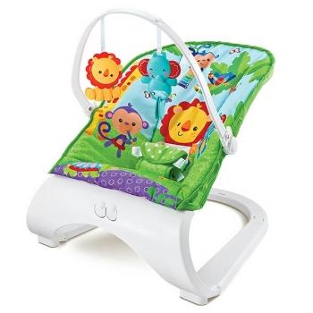 Детское кресло-качалка с игрушками и вибрацией Fitch Baby Forest Friends