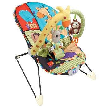 Детское кресло-качалка с игрушками и вибрацией Fitch Baby Animal Paradise