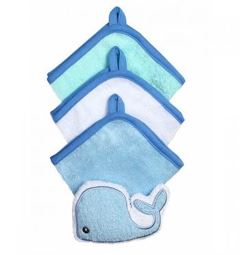 Набор  BabyOno губка для купания и 3шт. салфетки.