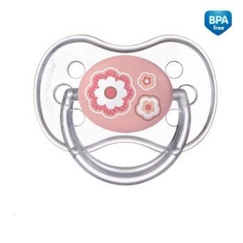 Пустышка Canpol Newborn baby симметричная, силикон, 0-6 мес., арт. 22/580