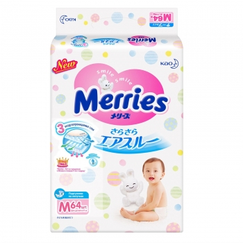 Подгузники Merries Air Through (6-11кг)