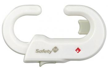Пластиковый блокиратор Safety 1st открывания распашных дверей шкафа (белый)