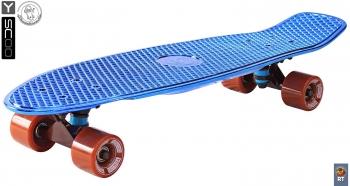 Скейтборд Y-SCOO Big Fishskateboard metallic 27