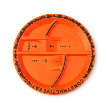Тарелка Constructive Eating. Строительная серия оранжевый (с логотипом стройки)