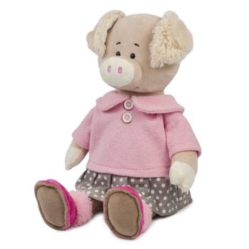 Мягкая игрушка Maxi Toys Свинка Вероника в Платье, 33 см