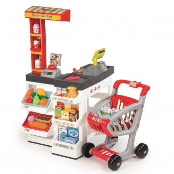 Супермаркет с тележкой Smoby красный