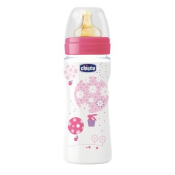 Бутылочка Chicco Well-Being Girl 4 мес.+, лат.соска, РР, 330 мл 310205121