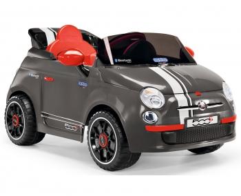 Электромобиль Peg Perego Fiat 500 grey с радиоуправлением