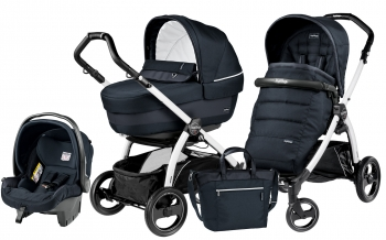 Коляска 3 в 1 Peg Perego Book S Elite Set Modular (шасси White/Black)