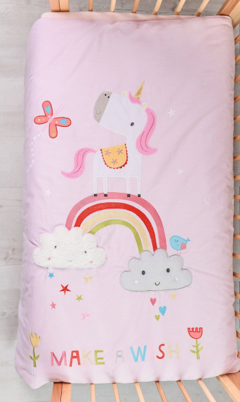 Одеяло Bizzi Growin Dream Rainbow and Unicorns 120*100 BG001