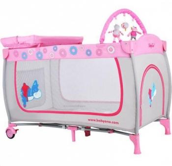 Манеж-кроватка с вибрацией и игрушками BabyOno
