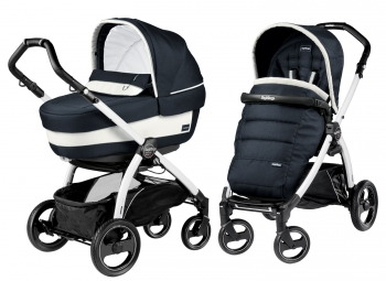 Коляска 2 в 1 Peg Perego Book S Elite Modular (шасси White/Black)