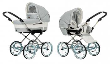 Детская коляска 2 в 1 Emmaljunga Mondial De Luxe (шасси De Luxe Chrome)