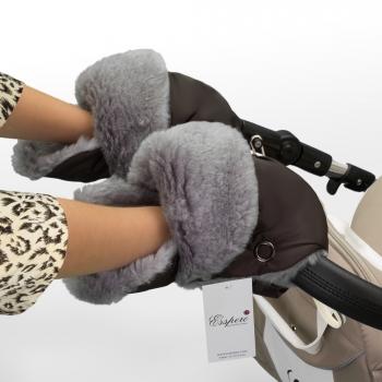 Муфта-рукавички для коляски Esspero Christoffer (Натуральная шерсть)