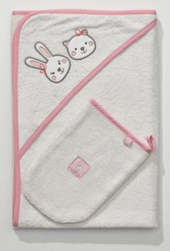 Полотенце-уголок Funnababy Lily Milly 90x90 см + варежка