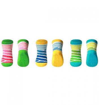 Носки из хлопка BabyOno Stripe антискользящие 6+