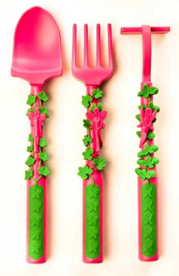 Набор из трех столовых приборов Constructive Eating. Серия Волшебный сад розовый