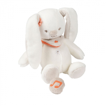 Игрушка мягкая Nattou Musical Soft toy MINI Mia & Basile
