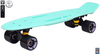 Скейтборд Y-SCOO Skateboard Fishbone с ручкой 22