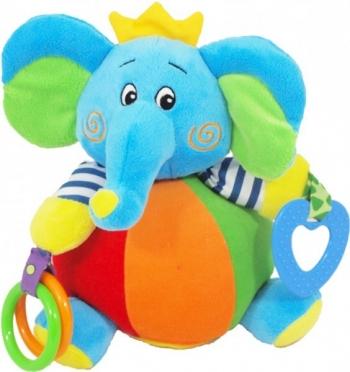 Игрушка c погремушкой Baby Mix Слон в короне