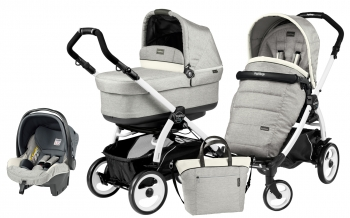 Коляска 3 в 1 Peg Perego Book 51 Pop Up Modular System (шасси White/Black)