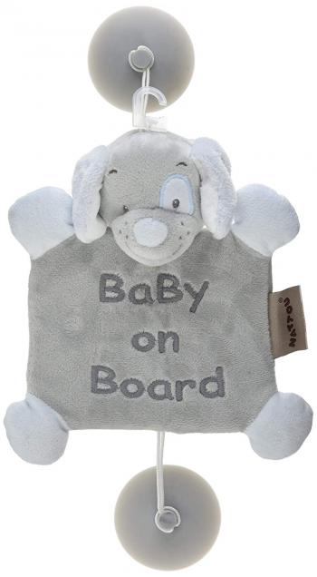 Знак автомобильный Nattou Baby on board Sam Toby