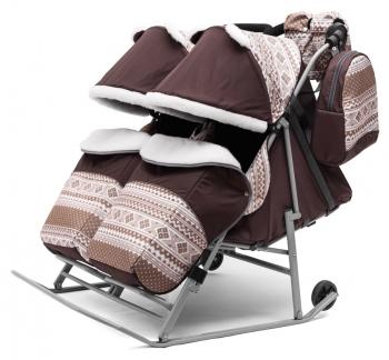 Санки-коляска для двойни Pikate TWIN Скандинавия