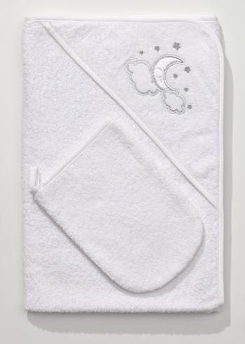Полотенце-уголок Funnababy Luna Chic 90x90 см + варежка