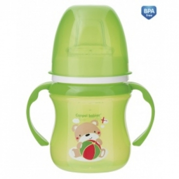 Поильник Canpol EasyStart Colourful animals, силик. носик, 120 мл, 6+ мес., арт. 35/207