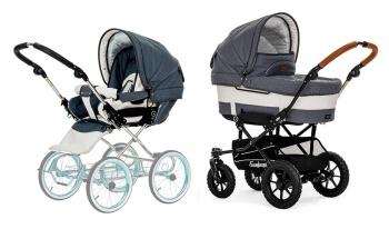 Детская коляска 2 в 1 Emmaljunga Mondial De Luxe (шасси Duo S Outdoor)