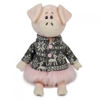 Мягкая игрушка Maxi Toys Свинка Ниночка в Пальто с Оленями, 22 см