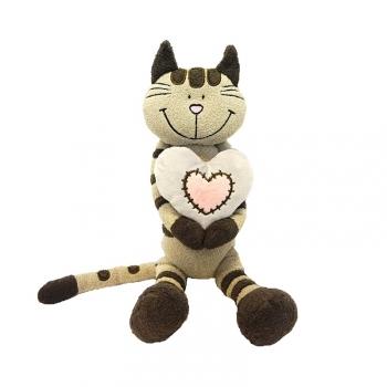 Мягкая игрушка Maxi Toys Кот Полосатик с Сердцем, 33 см