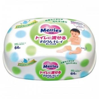 Салфетки Merries 64шт зеленый