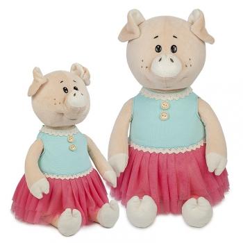 Мягкая игрушка Maxi Toys Свинка Даша в Ярком Платье