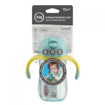 Поильник с трубочкой и ручками Happy Baby 2.0 (260мл.)