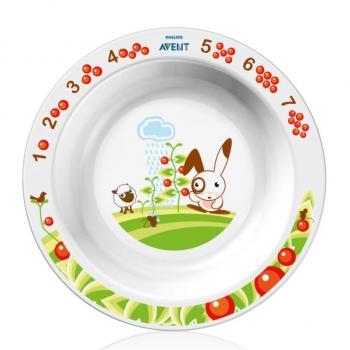Глубокая тарелка большая Avent 12м+ SCF704/00