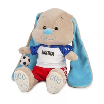 Мягкая игрушка Maxi Toys Зайчик Жак Футболист с Мячом