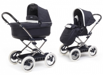 Коляска 2 в 1 Peg Perego Navetta Pop Up Chrome + Seggiolino Giro