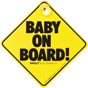 Знак «Ребенок в машине» Safety 1st на присоске в автомобиль