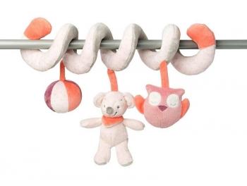 Мягкая игрушка Nattou Adele Valentine Toy Spiral Слоник и Мышка 424219