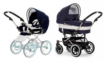 Детская коляска 2 в 1 Emmaljunga Mondial De Luxe (шасси Duo S Lounge)