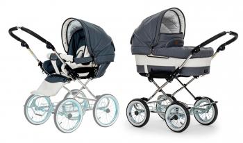 Детская коляска 2 в 1 Emmaljunga Mondial De Luxe (шасси Classic Chrome)