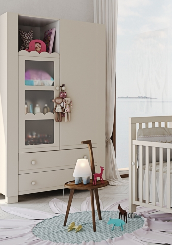 Детский шкаф Micuna Amelia Aran Luxe А-1718 со стразами Swarowski