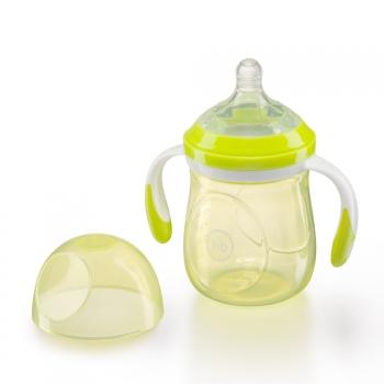 Бутылочка с ручками и антиколиковой соской Happy Baby (180 мл.)