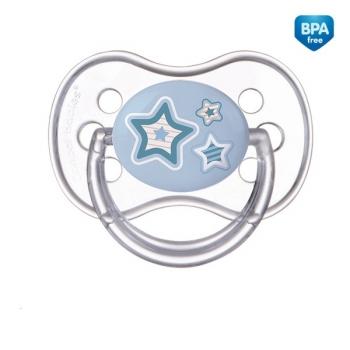 Пустышка Canpol Newborn baby симметричная, силикон, 6-18 мес., арт. 22/581