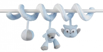 Мягкая игрушка Nattou Toy Spiral Sam Toby Овечка и Собачка 604215
