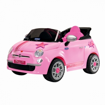 Электромобиль Peg Perego Fiat 500 Star Pink (на р/у)
