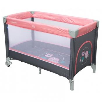 Манеж-кроватка Baby Mix Цветочки