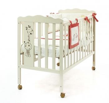 Детская кроватка Micuna Baby Giraffe Ivory (120x60) + Матрас СН-620